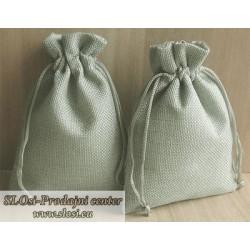 Juta vrečka-fino tkanje 15x10 cm