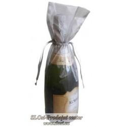 Prosojna tkana vrečka za steklenice 38x16 cm