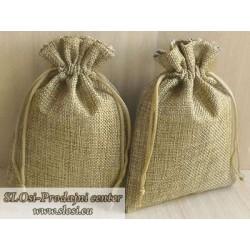 Juta vrečka-fino tkanje 10x8 cm