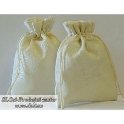 Juta vrečka-fino tkanje 30x20 cm