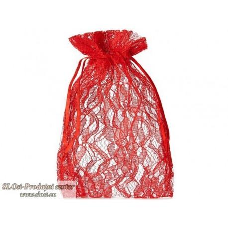 Prosojno tkana s čipkastim vzorcem, 18x11 cm