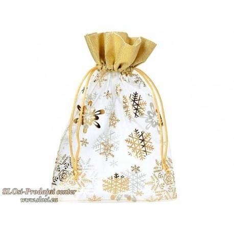 Snežinke z zlato borduro 23x15 cm