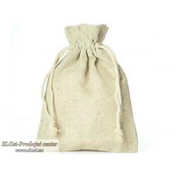 Lanena vrečka 10x8 cm, 100% naravna
