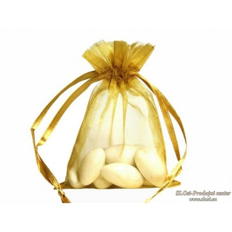 Prosojna tkana vrečka 15x10 cm