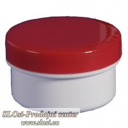 Plastična za kreme 5g/6ml, rdeč pokrov
