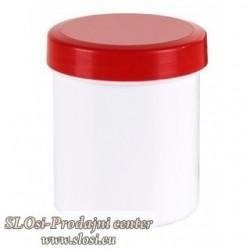 Plastična za kreme 20g/25ml, rdeč pokrov