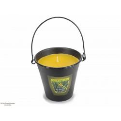 Dišeča sveča za odganjanje komarjev, v vedru, vonj citronele
