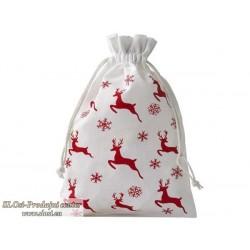Bombažna vrečka, motiv jeleni 15x10 cm